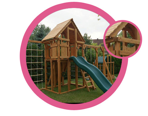 Outdoor playset for girl