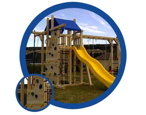 Outdoor playset for boy