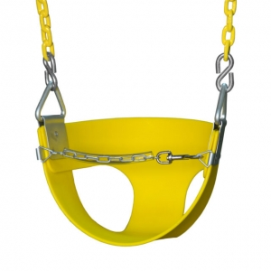 Demi-siège de balançoire pour bébé - chaines plastifiées