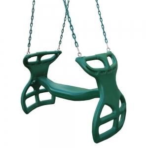 Balançoire dos-à-dos - chaines plastifiées
