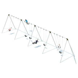 Structure de balançoires trip pod  8' - 8 places