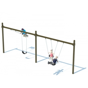 Single Post Swing Frame 2 Bay Accessory For Outdoor Playset Jeux