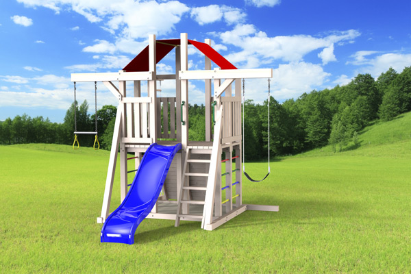 Outdoor Swing Set The Compact 4x6 Jeux Modul Air