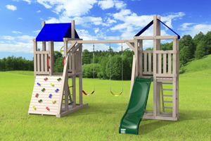 outdoor playset The Demi-tour 4x4