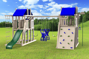 outdoor playset The Duplex 4x6