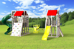 outdoor playset The Turbo Duplex
