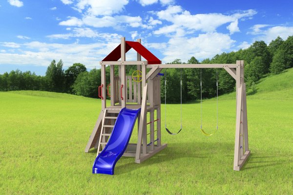 Outdoor swing set the simplex 4x4 jeux modul 39 air for Grand jeu exterieur animation